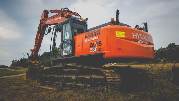 Kallegutas Hitachi grävmaskin