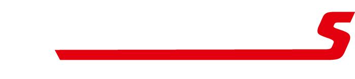 Kallegutas logotyp i vit och röd