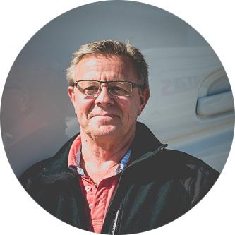 Roger Hermansson på Kallegutas i Kalleguta